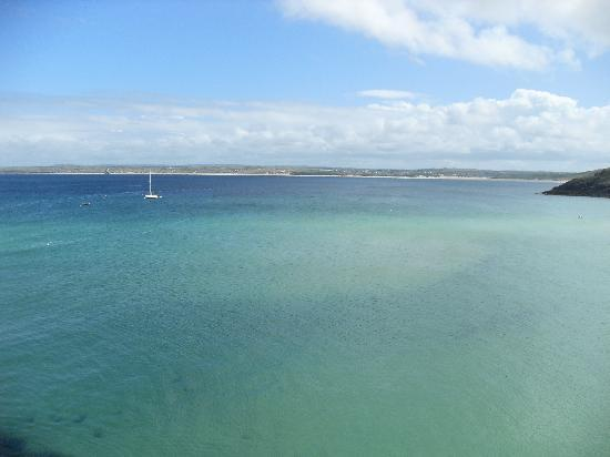 Hayle, UK: View over St Ives Bay to Tom's (from St Ives)