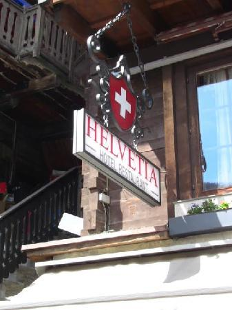 Hotel Helvetia: Hotel Sign
