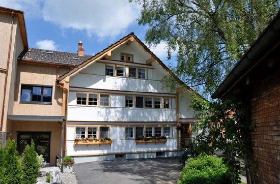 Gais, Switzerland: The old converted farmhouse with Stubli on ground floor.