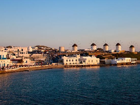 Mykonos, Yunani: Relax at Little Venice and watch sun going down