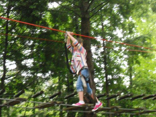 Adirondack Extreme Adventure Course: Haley the conqueor