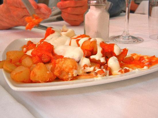 La Rita : patatine con maionese e mela per l'attesa