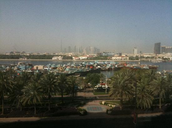 Hilton Dubai Creek: 2nd floor view of creek and the dhows