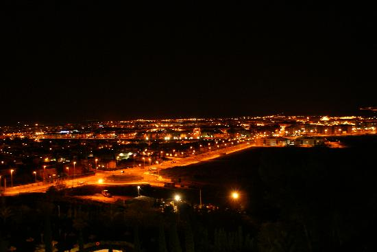 Parador de Cordoba: View from 5th floor at night