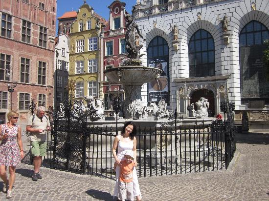 Gdansk, Polen: Neptune fountine on Long Street