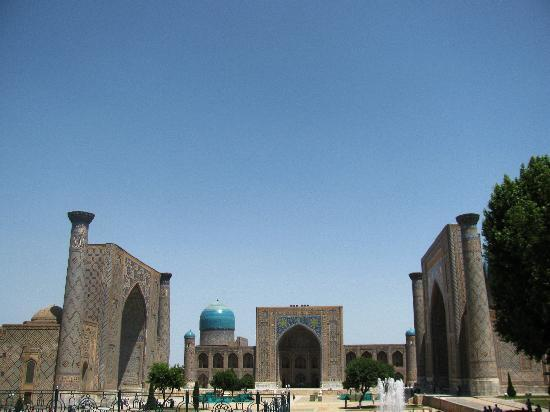 Samarkand, Uzbequistão: magnificent Registan...