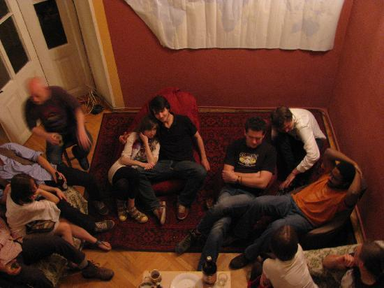 Why Not? Tbilisi Legend Hostel: Great hang-out zone