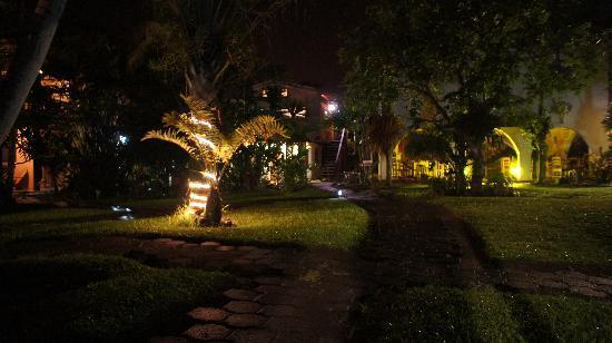 El Encanto Inn: The main house at night