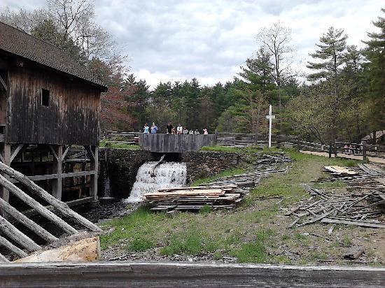 Old Sturbridge Village: Water powering the sawmill