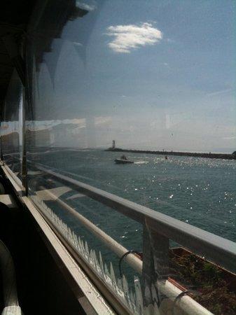 Le Grau d'Agde, France: vue de la terrasse flottante