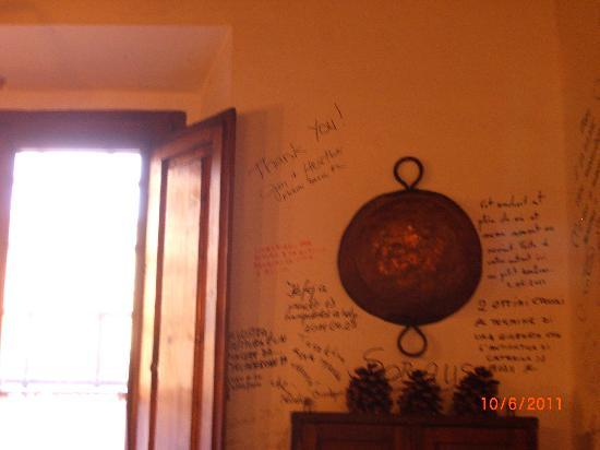 Ristorante A Casa Tua: Our names on the wall