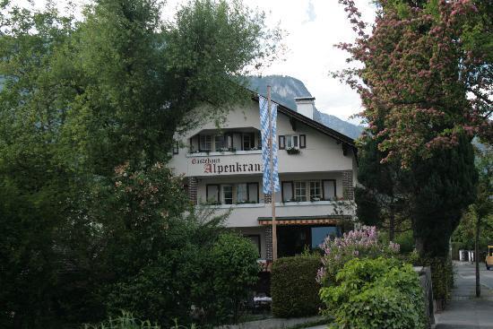 Gastehaus Alpenkranz: Blick von der Bahnhofstraße