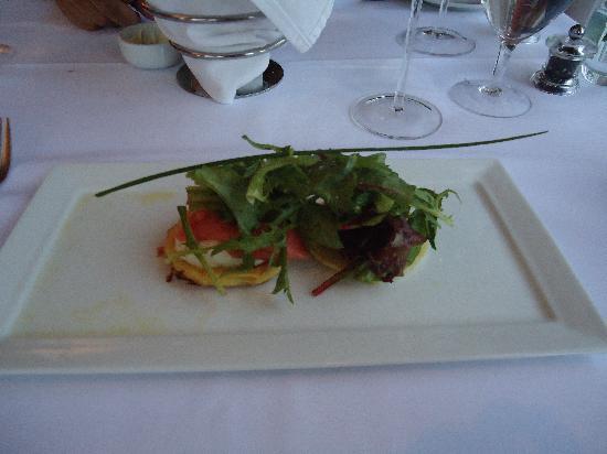 10 Tables: salmon blini appetizer