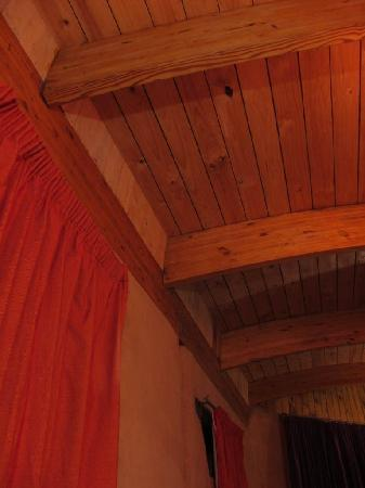 Samhitakasha Cob House Organic B&B : Elegant curved eco beams.
