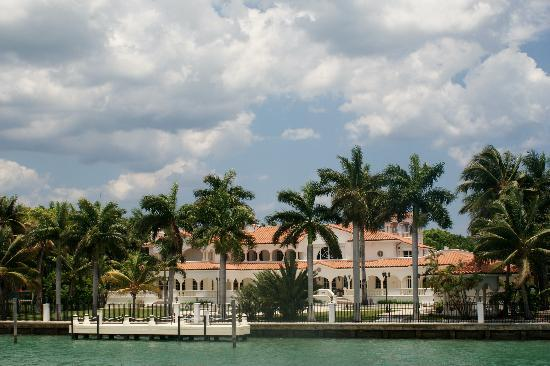 Miami Beach, FL: Celebrity Mansion on Fisher Island in Biscayne Bay