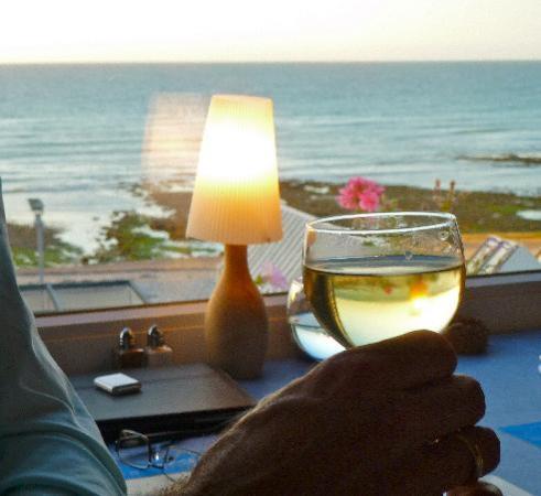 Yport, Frankrig: Restaurant mit Meeresblick