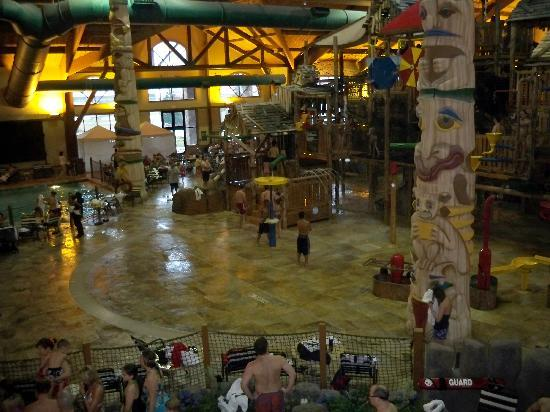 Great Wolf Lodge: a view from our favorite deck