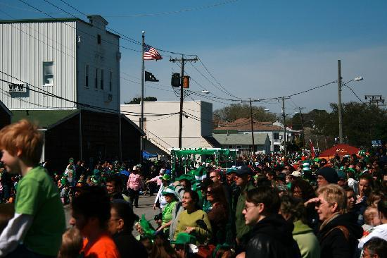 Norfolk, VA: Ocean View during St. Patrick's Day Parade.