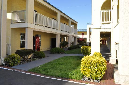 Quality Inn & Suites Redwood Coast: Hotel structure, real cozy
