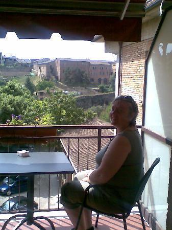 Hotel Athena: bra start eller slutt på dagen på egen balkong