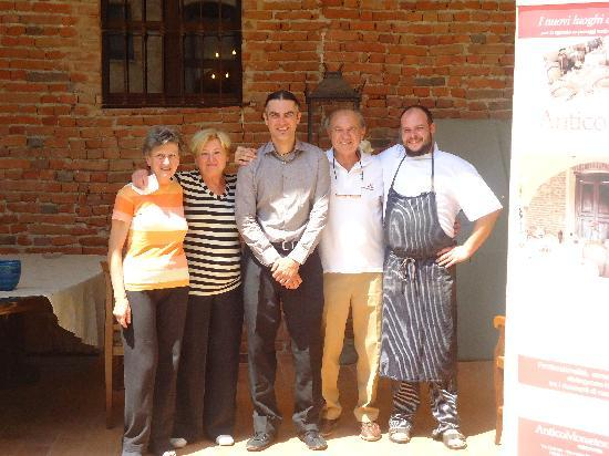 Relais Palazzo Paleologi: the owners family and chef