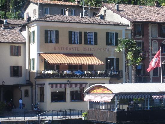 Albergo Ristorante Della Posta: hotel & restaurant from the water