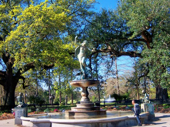 Audubon Park: The fountain