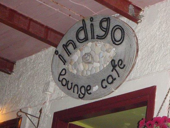 the sign of Indigo Cafe