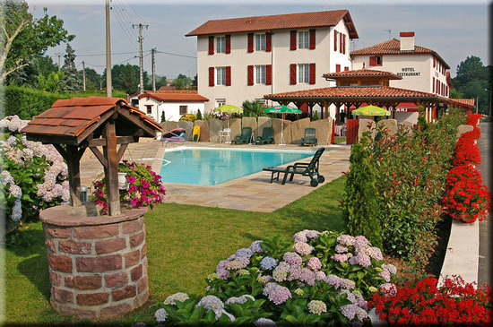 Itxassou, Frankrike: le jardin