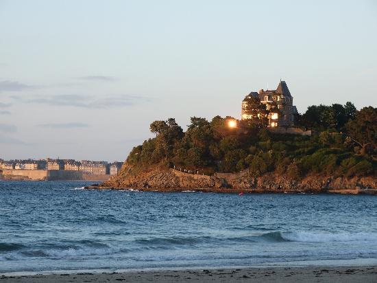 View of St. Malo at far left from Le Crystal