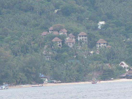 Ban's Diving Resort: View of hillside rooms from Koh Nang Yuan