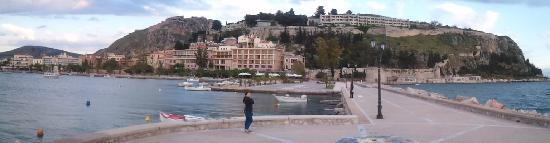 Nafplio, Greece: The seafront promenade