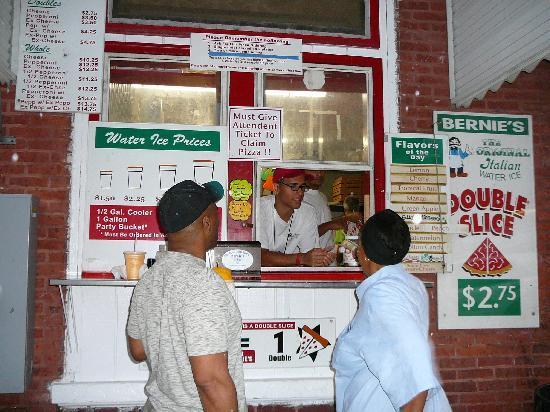 Bernie's Original Italian Ice: The ordering window at Bernie's