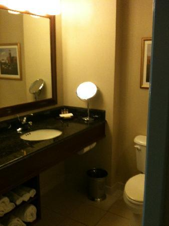 Mystic Marriott Hotel & Spa: Adequate bathroom