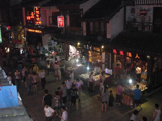 Yangshuo West Street Hotel: View from upstairs balcony