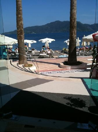Hotel Marbella: View from hotel lobby