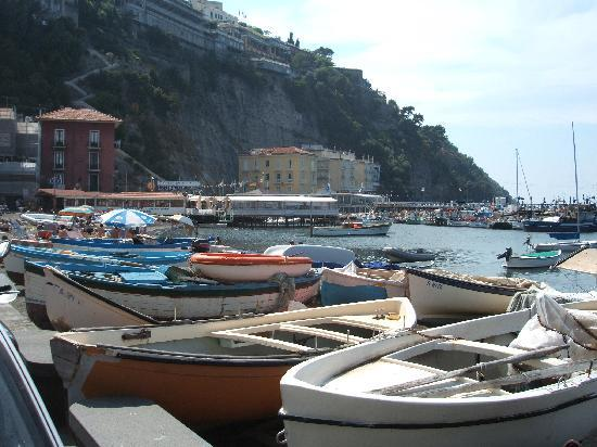 Hotel Admiral Sorrento: Marina Grande, with Hotel in background