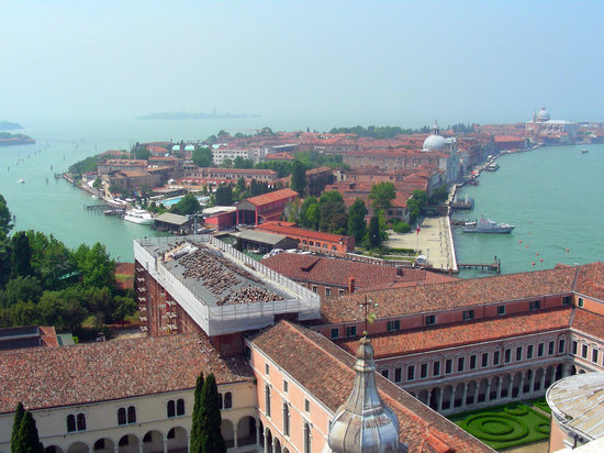 Venedik, İtalya: Looking west towards Giudecca