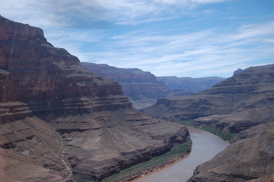 Sky Treks: Canyon and Colorado river from helicopter