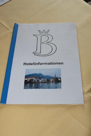 Bachmair Hotel am See: Hotelinfos in der Klarsichthülle
