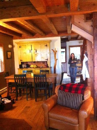 The Cabins at Terrace Beach: Living area very cosy!