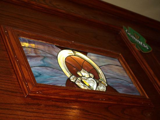 The Blarney Stone Pub: One of Many Stained Glasses in Blarney Stone