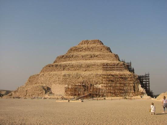 Step Pyramid of Djoser : Partially clad in scaffolding