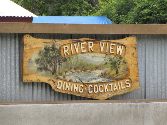 River View Restaurant & Lounge: RIVER VIEW CARVED SIGN