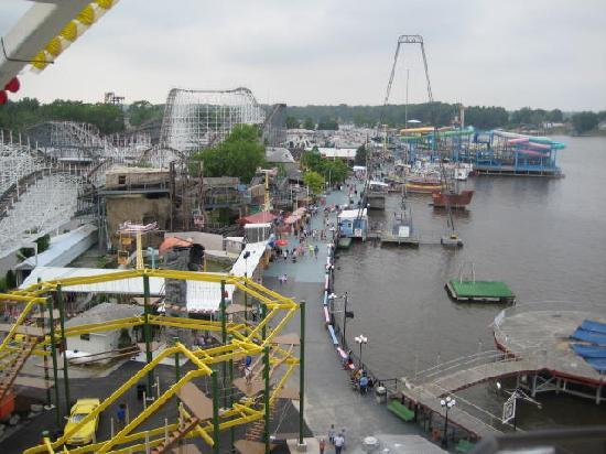 Indiana Beach Amusement & Waterpark: Overlooking half the park