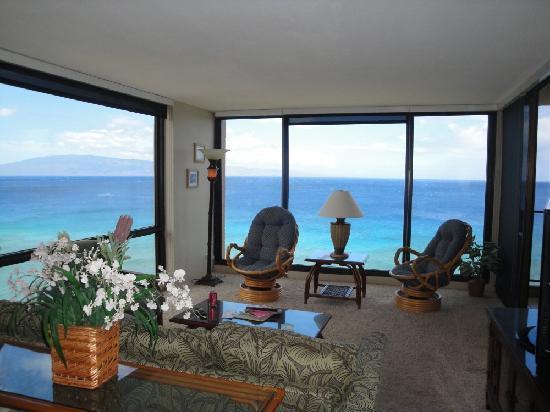 Aston Mahana at Kaanapali: View from Living room