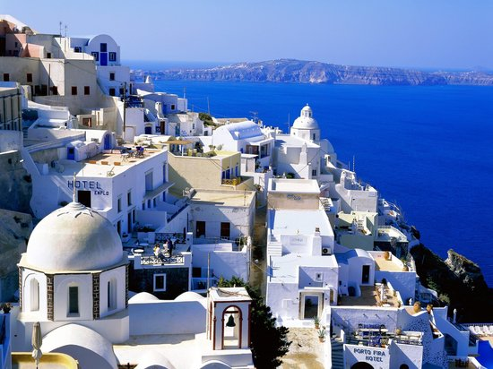 Karteradhos, Greece: Fira, the capital of Santorini