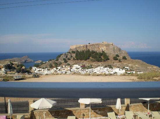 Hotel Lindos View: View from restaurant