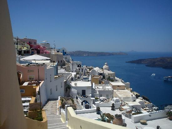 Santorini, Kreikka: Viw from the city of Oia
