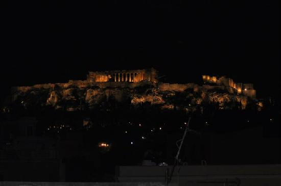 Jason Inn : Parthenon by Night Rooftop View